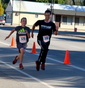 Father/son duo, Sam (L) and Chris (Right) Thomas.  Sam took 2nd in the 5K Overall and Chris took 3rd.