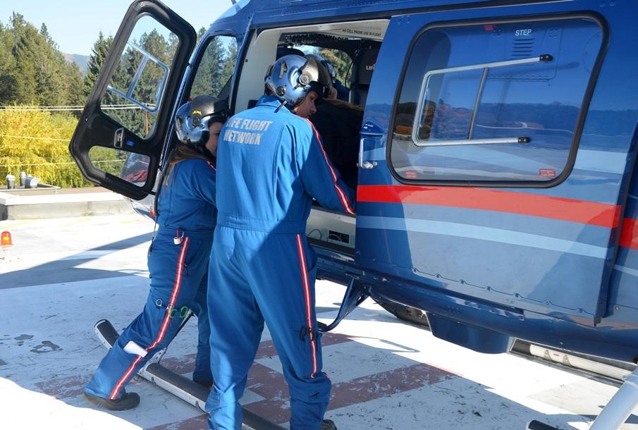 Life Flight patient at Newport Hospital, Newport WA
