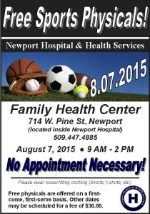 Free Sports Physicals 2015
